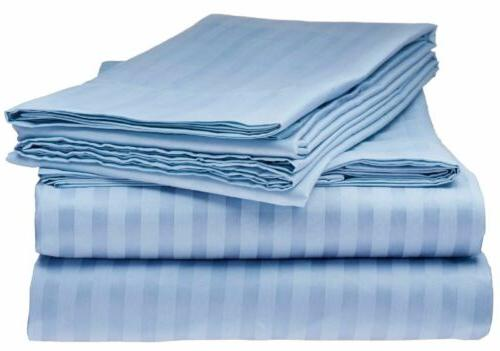 BAMBOO 1800 STRIPED BED SHEET SIZES