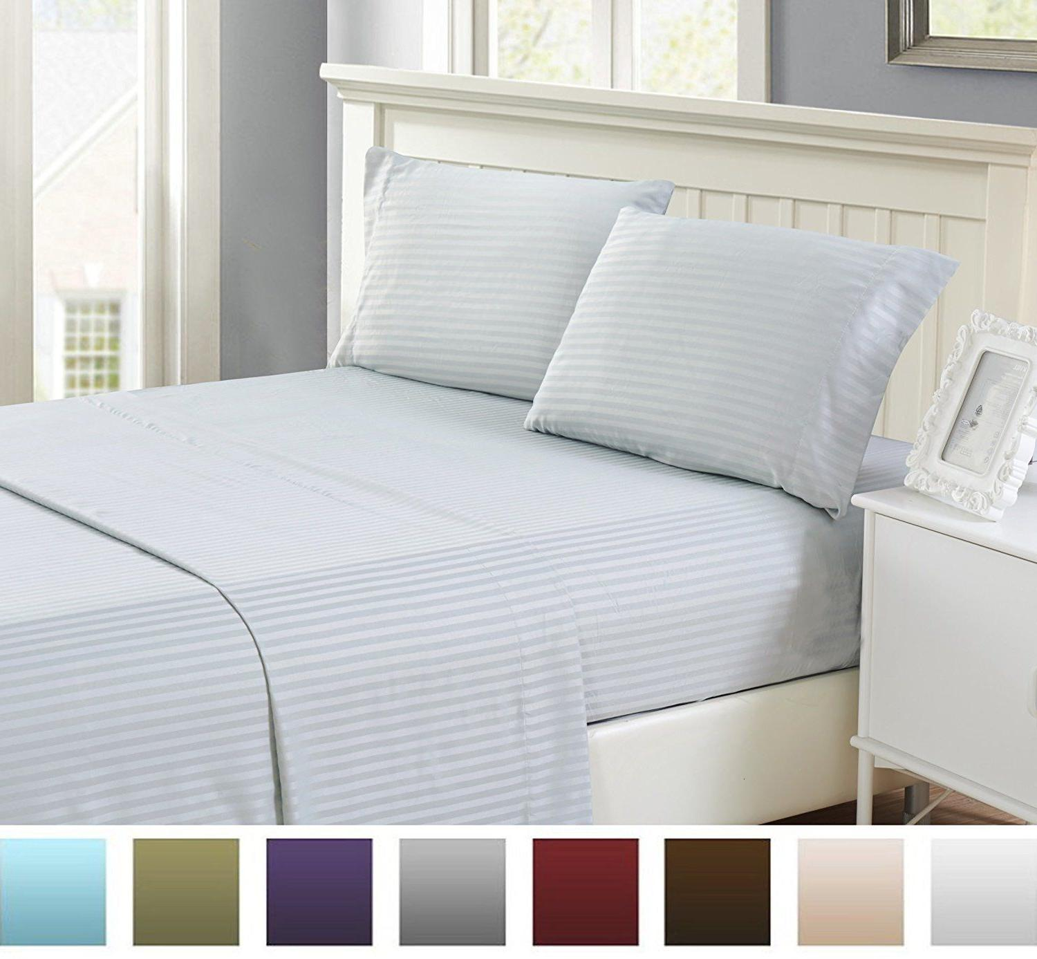 Bed Set High Egyptian Quality Home Striped