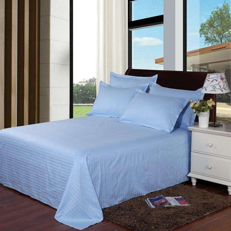 Hotel <font><b>sheet</b></font> Cotton Solid color Flat