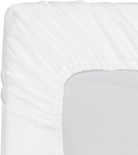 Mayfair Egyptian Cotton Sheets, White Sheets Count Staple Sateen Soft and Feel, Mattress Upto Pocket