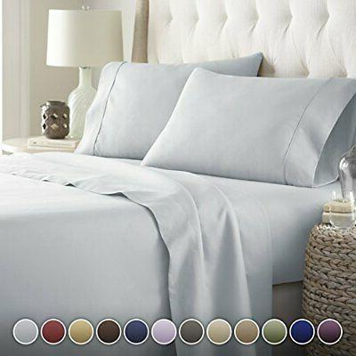 HC COLLECTION-Hotel Luxury Bed Sheets Set 1800 Series Twin A