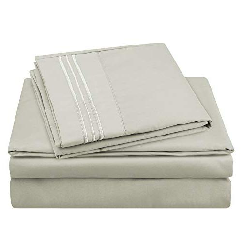 HOMEIDEAS Hotel Luxury 1800 Series Sheets Set GSM Sheets - Resistant