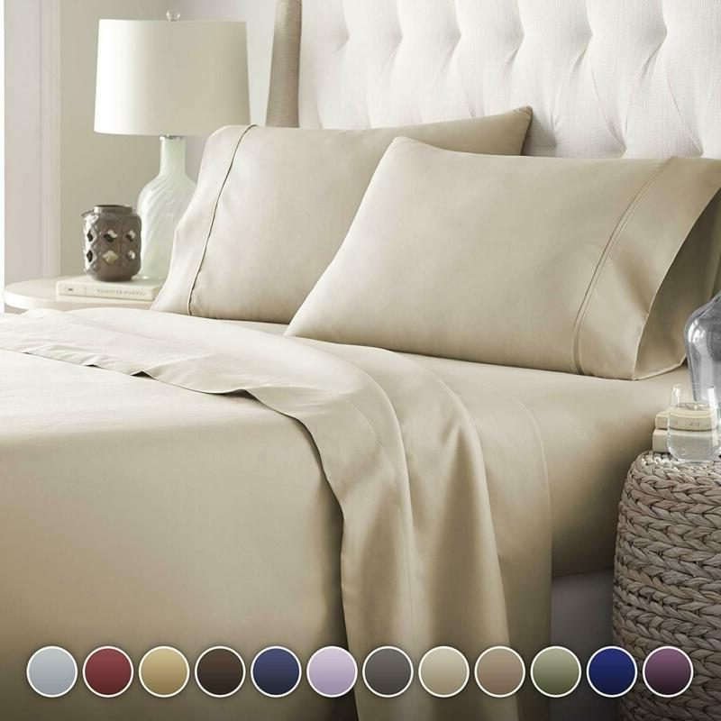 hotel luxury bed sheets set platinum collection