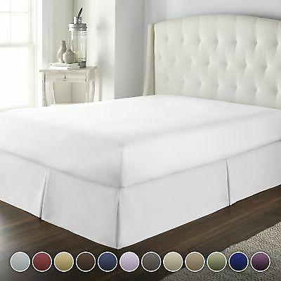 Hotel Luxury Bed Ruffle TODAY ONLY! inch Fade Resistant, Top 100%!!