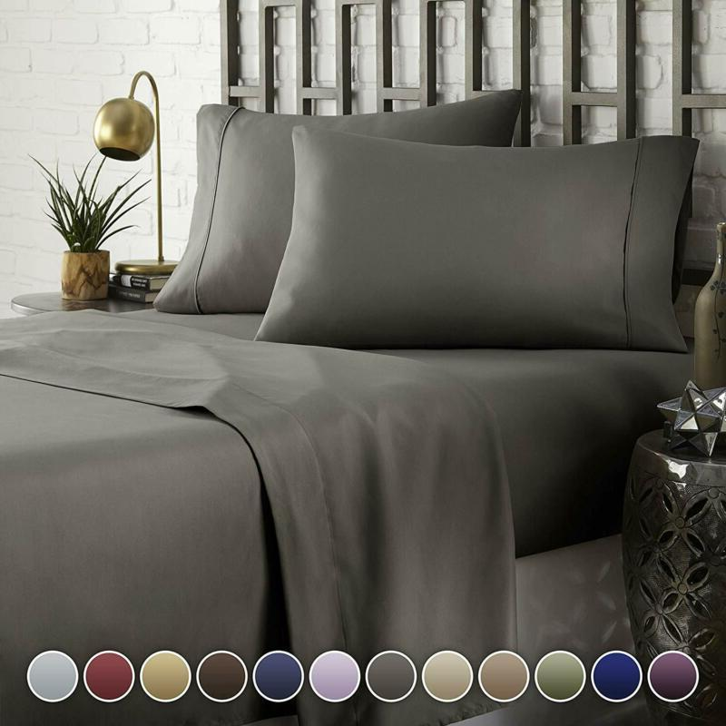 hotel luxury comfort bed sheets set 1800
