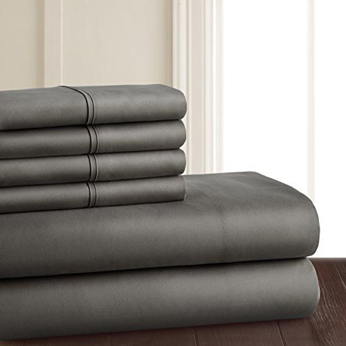 6 Soft 1800 Series Premium Bed Pockets, Hypoallergenic, Wrinkle Fade Bedding