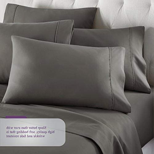 6 Piece Soft Bed Sheets Deep Pockets, Fade Resistant