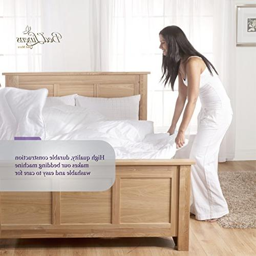 6 Piece Soft 1800 Series Bed Sheets Set, Deep Pockets, Hypoallergenic, Wrinkle & Fade Bedding
