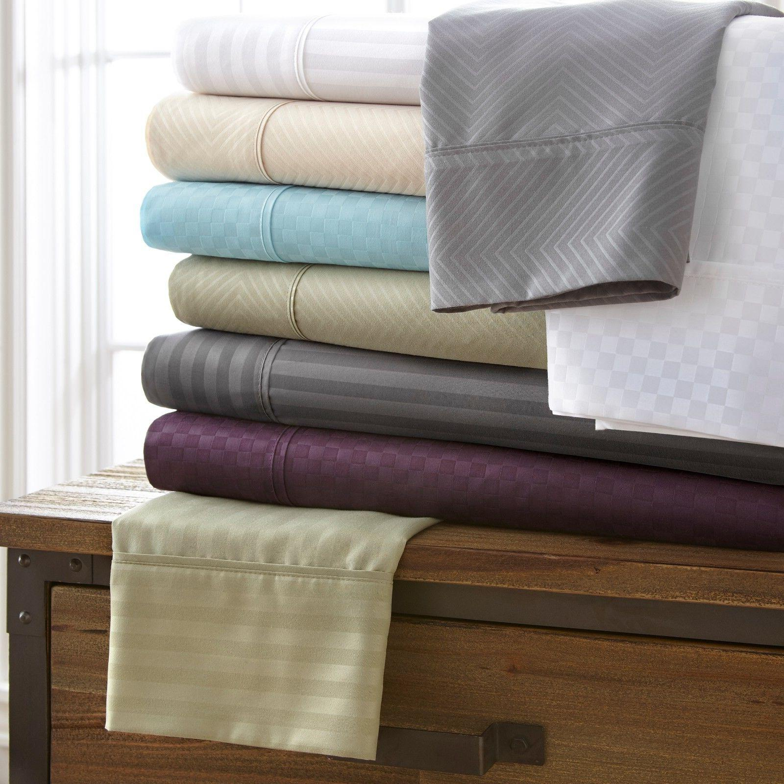Egyptian Comfort Hotel Quality 4-Piece Bed Sheet Sets - 4 Lu