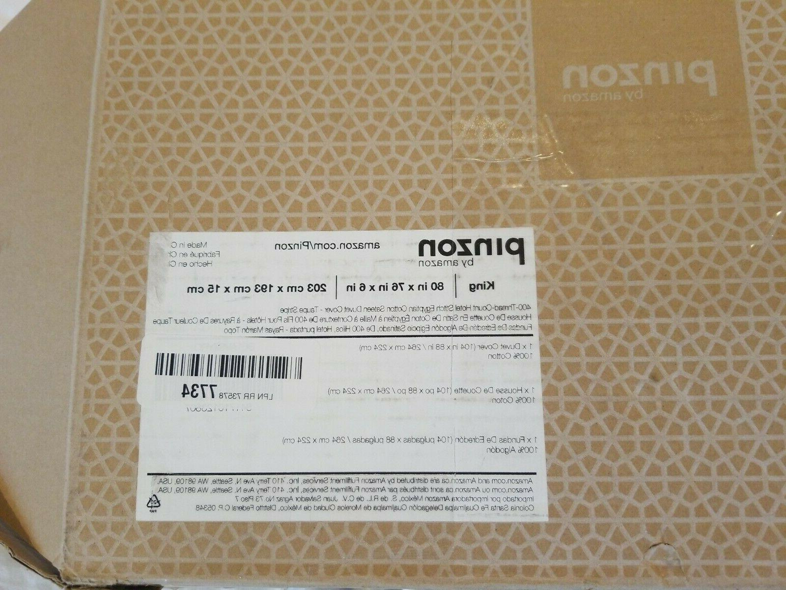 """Pinzon King 80""""x 76""""x 6"""" Cover thread count Egyptian Taupe"""