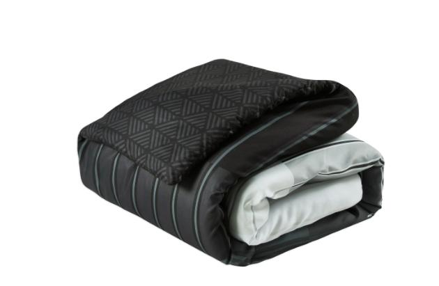 King Comforter Black Grey Bedspread Sheets Ba