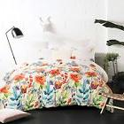 Lightweight Microfiber Duvet Cover Set, Colorful Floral Prin