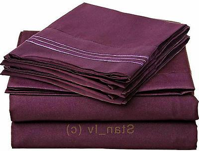 1800 Thread 4pc Bed Sheet Quality Deep Pocket All Sizes,