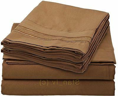 1800 Bed Egyptian Quality Pocket - All Sizes, 12