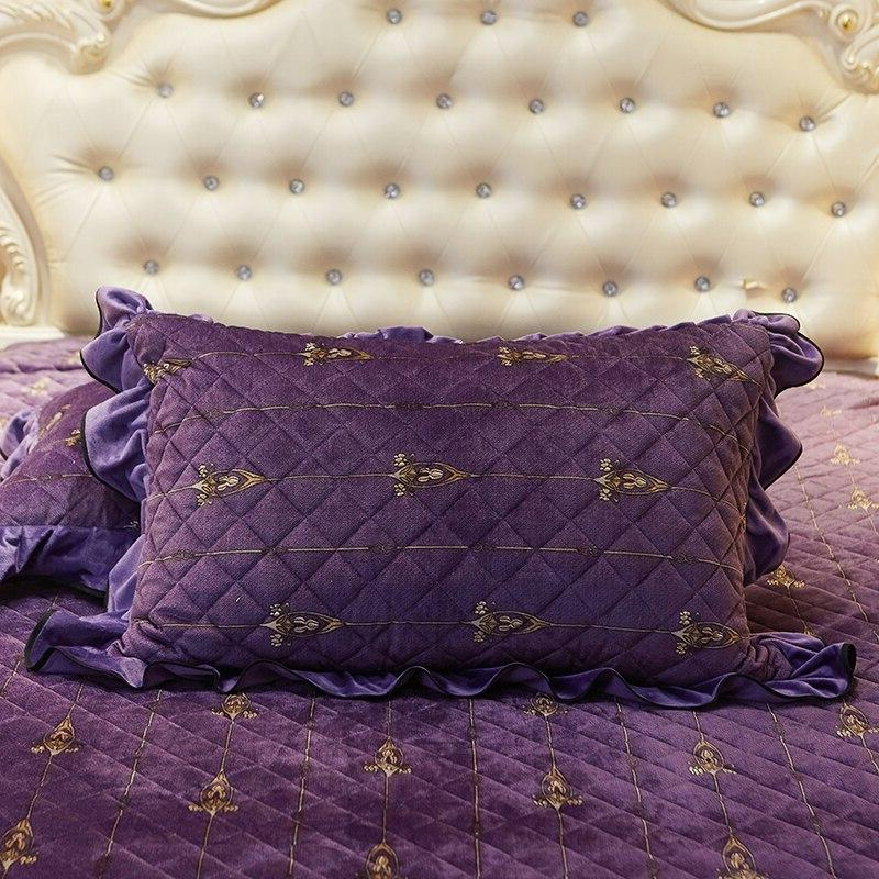 Luxury <font><b>royal</b></font> Set queen <font><b>velvet</b></font> set pillowcase <font><b>Bed</b></font> Duvet Cover set for winter