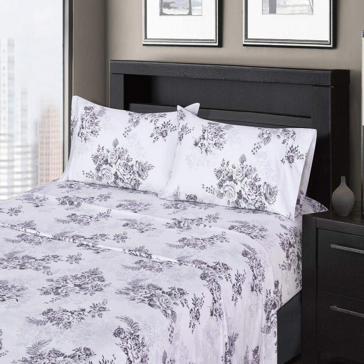 Luxury Printed Pure Sateen Combed Cotton Deep Wrinkle