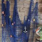 KINGSO Mediterranean Style Decorative Fish Net With Anchor a
