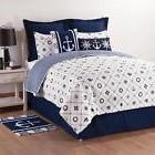 Nautical/Striped Pattern Reversible Cotton Quilt Set Oversiz