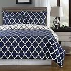 Navy and White Meridian 2-piece Twin / Twin XL Duvet Cover s