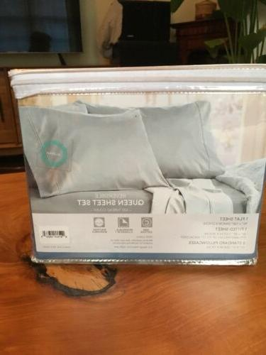 NEW Of Queen Bed Reversible Cotton Sheets