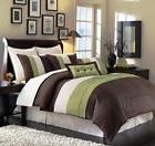Chezmoi Collection 8-Piece Pintuck Pleated Stripe Duvet Cove