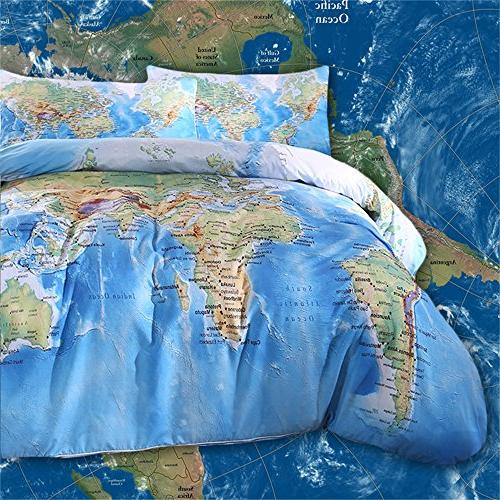 Sleepwish World Map Bedding Duvet Cover Set on map sheet, map home decor, map drawing, map market garden, map paper, map quilt, map furniture, map gallery wall, map blanket, map games, map travel, map office decor, map wallpaper, map room ideas, map pillow, map dishes, map crib set, map baby nursery, map shower curtain, map themed bedroom,