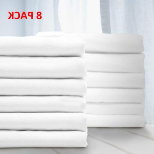 premium queen pillowcase 8 pack standard white