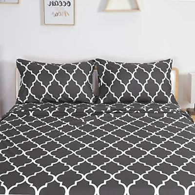 HOMEIDEAS Printed Bed Sheets Extra