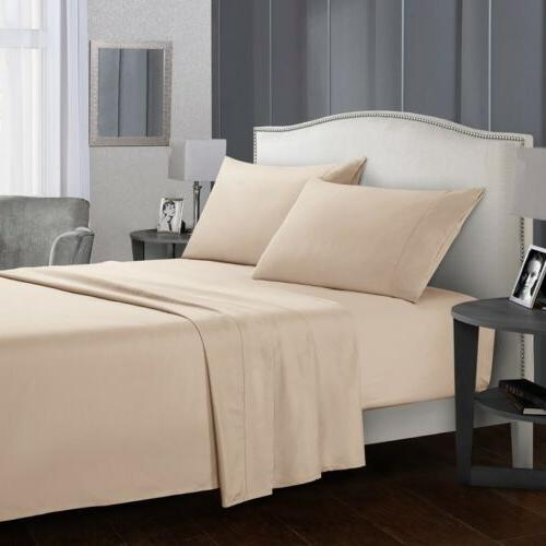 Soft Sheets 4 Deep Bedding Sets Queen Full Twin Size