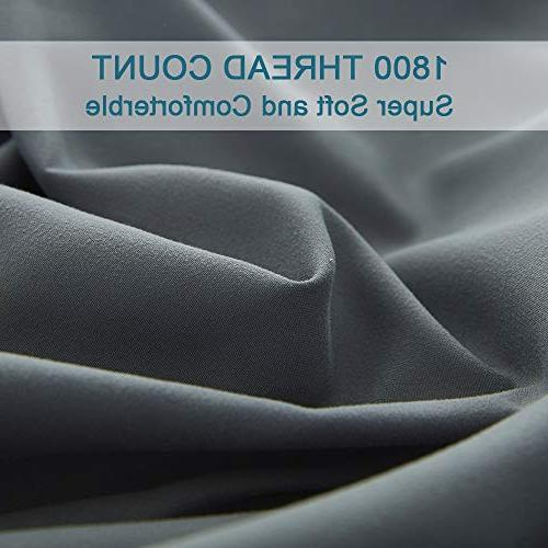 Shilucheng Sheets Microfiber Thread Percale Soft Inch Deep Pockets Wrinkle and - Piece