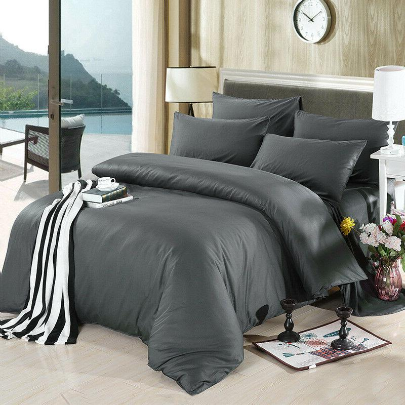 4PCS Hotel Sheets Set Black Color