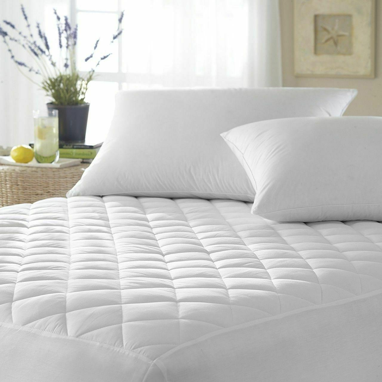 QUILTED MATTRESS PROTECTOR FITTED BED COVER SHEET SINGLE SMA