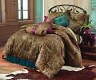 HiEnd Accents San Angelo Western Comforter Set with Teal Bed