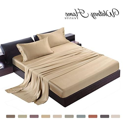 satin bamboo derived rayon bed