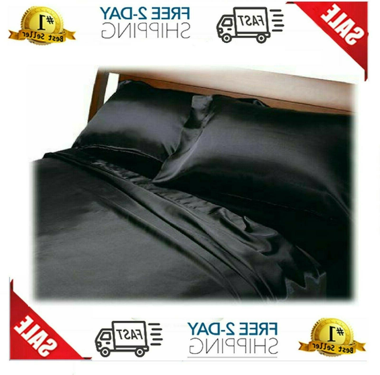 satin sheets queen size soft silk feel