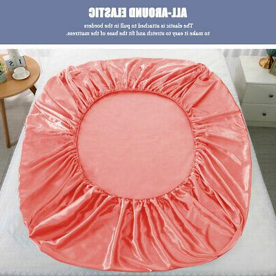 Satin Silk Fitted Sheet with Ultra Luxury and