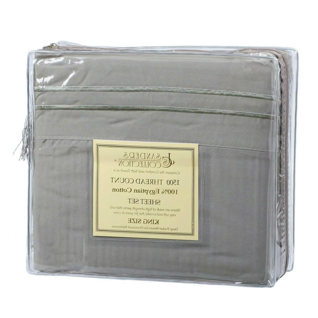 king size sage green 1500 thread count
