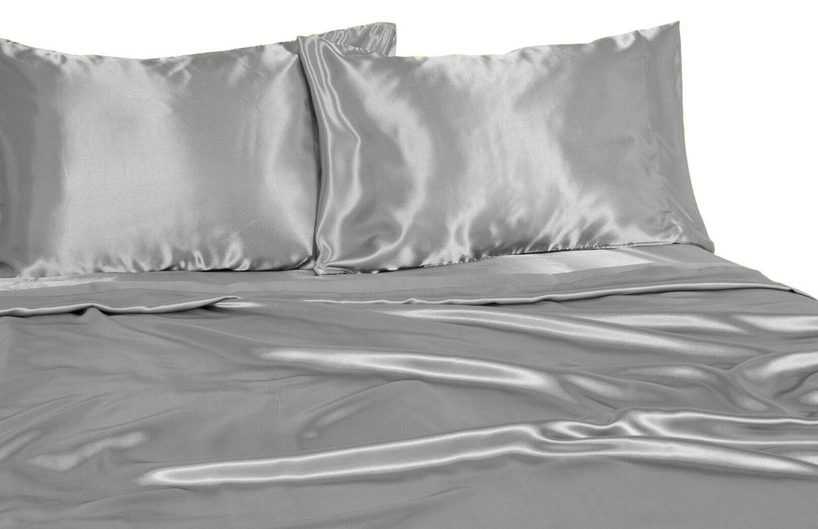 Snow Satin + Sheets -