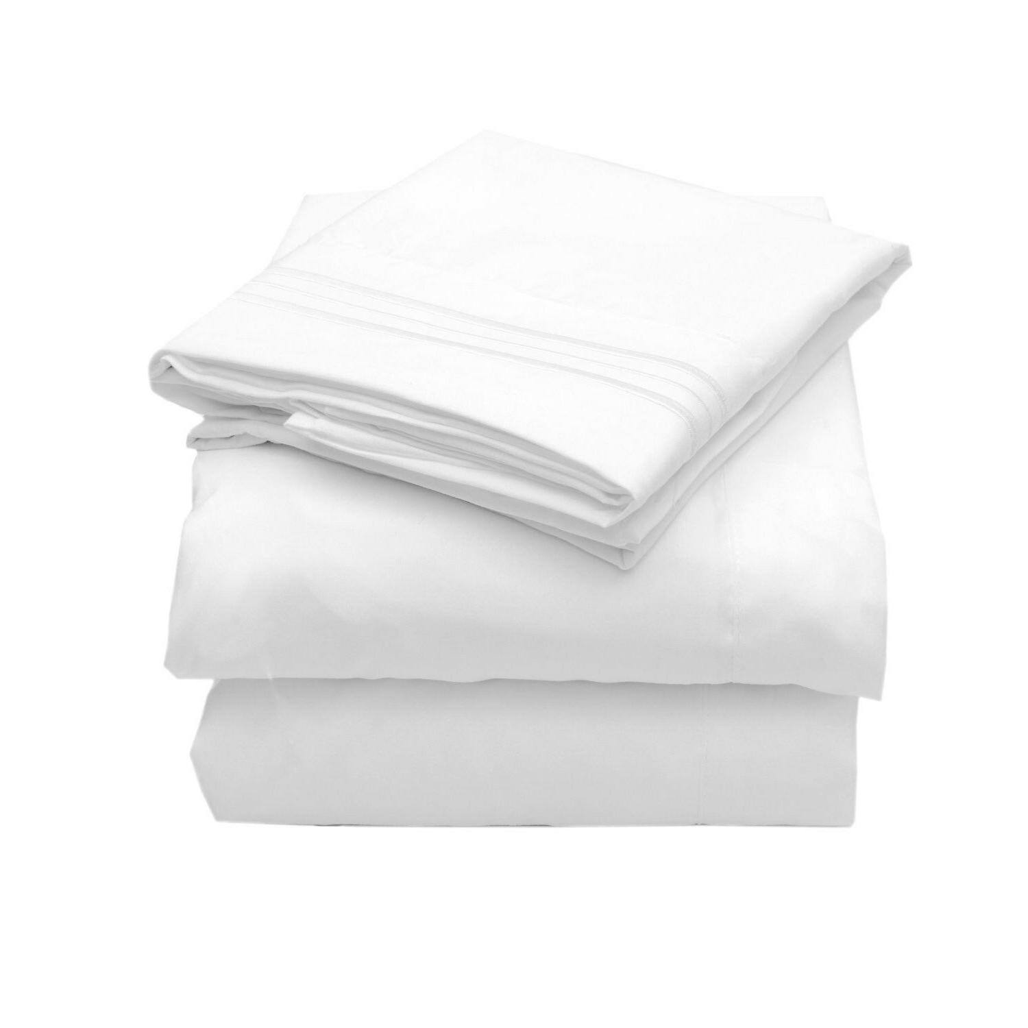 Sweet Home Collection 1800 4pc Bed Sheet Set, Egyptian-Full,