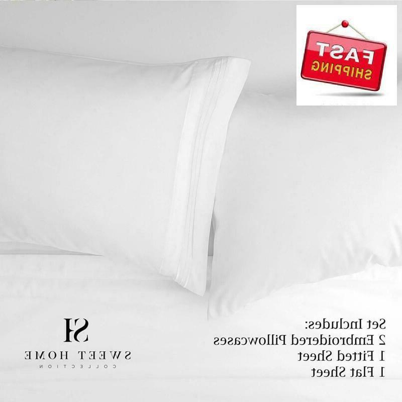 Sweet Home Bed Sheet Set, White