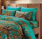 TEAL CAMO SHEETS!!  FULL SIZE BEDDING 6 PC SET CAMOUFLAGE BL