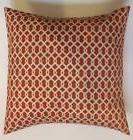 Throw Pillow Sham/Cover for 18x18 Insert Orange & Ivory Indo