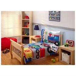 4pc Trains Toddler Bedding Set - Vintage Railroad Steam Engi