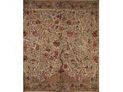 """Tree of Life Tapestry Cotton Bedspread 108"""" x 108"""" Queen-Kin"""