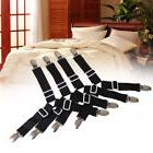 4pcs Triangle Sheet Elastic Straps Suspenders Adjustable Bed