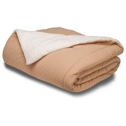 Two Sided Reversible Throw Blanket - Sherpa and Microfiber -