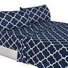Utopia Bedding 4-Piece Brushed Microfiber Navy King Size Bed