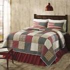 Victory Americana Queen Size 3 Pc Quilt Set All Cotton Quilt