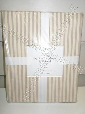 Pottery Barn Vintage Ticking Stripe Bed FITTED Sheet Queen N