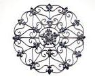 Wall Art Decor Home Vintage Metal Iron Antique Medallion Tea